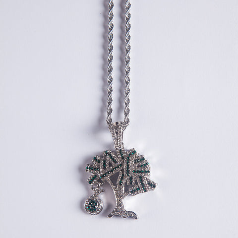 Silver Moneytree Pendant - Gold plated uk