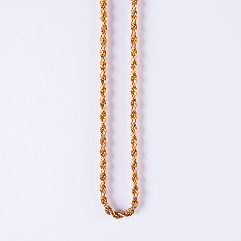 24K Rope Chain 4 mm - Gold plated uk