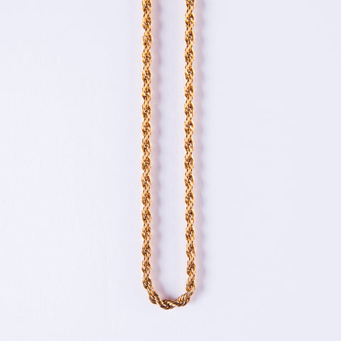 18K Rope Chain 3mm - Gold plated uk