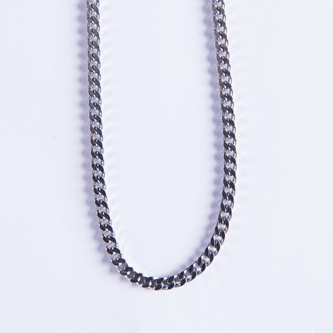 5mm Silver Cuban Chain - Gold plated uk
