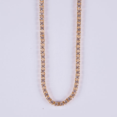 4mm Gold Tennis Chain - Gold plated uk