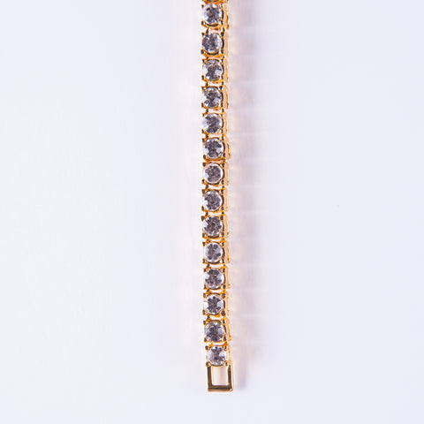 Gold Tennis Bracelet - Gold plated uk