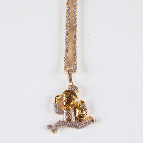 Monopoly Pendant - Gold plated uk