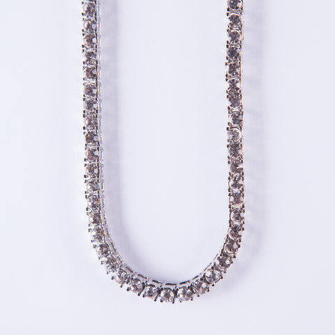 Silver Tennis chain - Gold plated uk