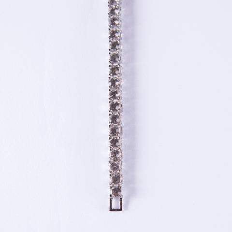 Silver Tennis Bracelet - Gold plated uk