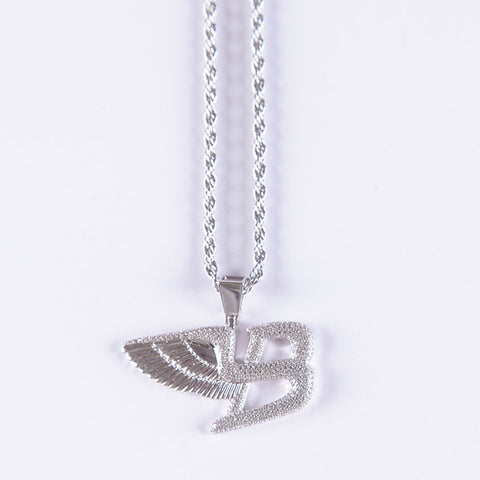 White Gold Bentley Pendant - Gold plated uk