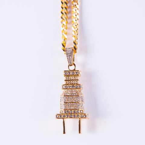 Gold Plug Pendant - Gold plated uk