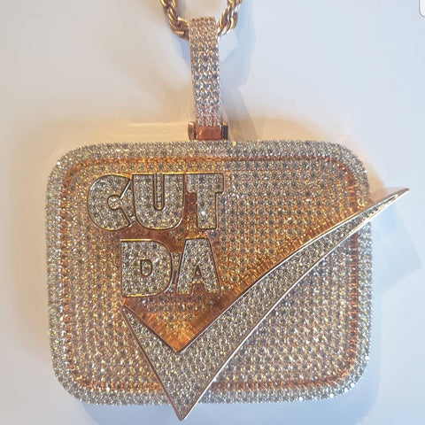 Cut Da Check 3D Pendant