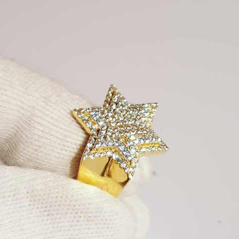Star Ring Gold Vermeil 2 Tone .925