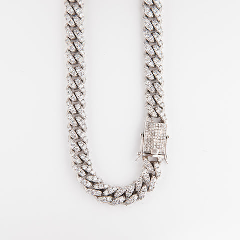 12mm Prong Iced Cuban Chain