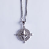 Silver Compass Pendant - Gold plated uk
