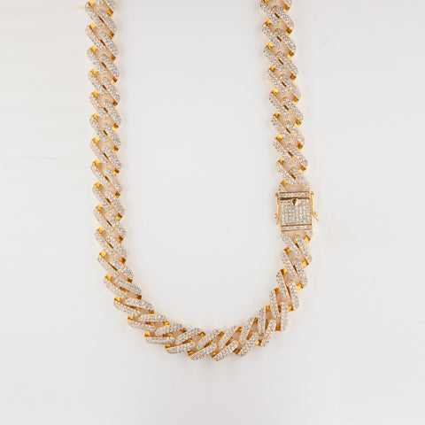 12mm Square Iced Cuban Chain