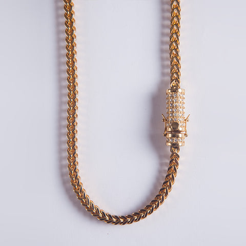 8mm Franco Chain - Gold plated uk