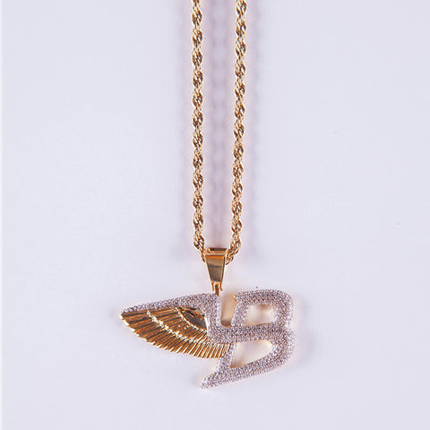 Gold Bentley Pendant - Gold plated uk