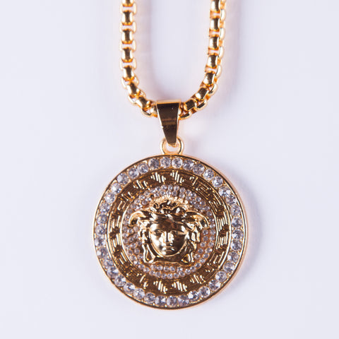 Medusa Pendant - Gold plated uk
