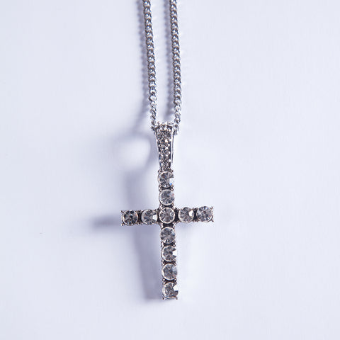 Silver Cross Pendant - Gold plated uk