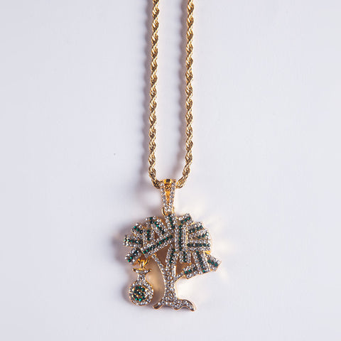 Gold Moneytree Pendant - Gold plated uk