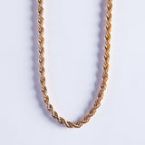 24K Rope Chain 5mm - Gold plated uk