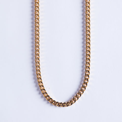 5mm  Gold Cuban Chain - Gold plated uk
