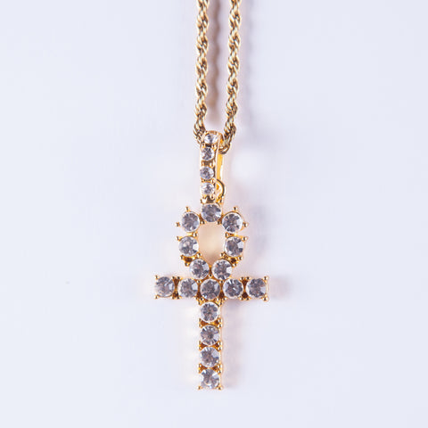 Gold Ankh Cross Pendant - Gold plated uk