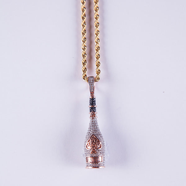 Rose gold ace of spade pendant goldplateduk rose gold ace of spade pendant gold plated uk aloadofball Image collections