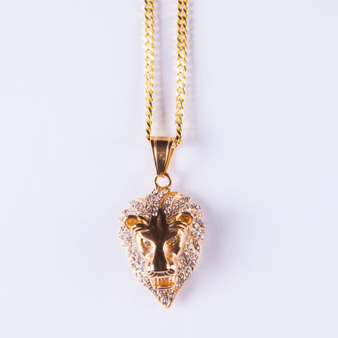 Lion Pendant - Gold plated uk