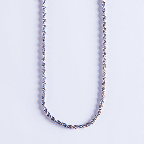 3mm Silver Rope Chain - Gold plated uk