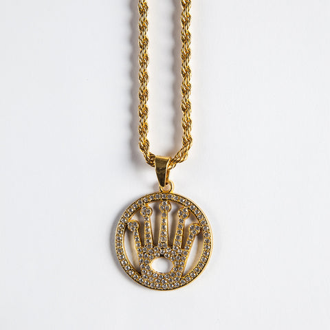 Crown Pendant - Gold plated uk