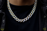 15mm Prong Cuban 2 Tone Chain