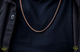 3mm Rose Gold Rope Chain