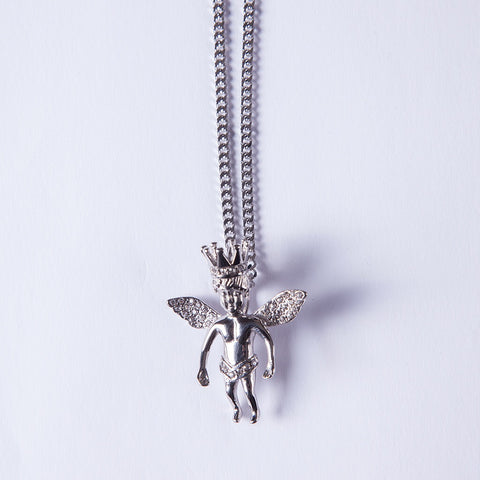 Silver Crown Angel - Gold plated uk