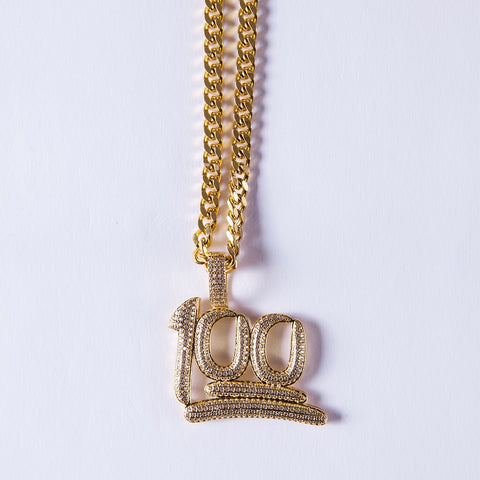Gold 100 Pendant - Gold plated uk