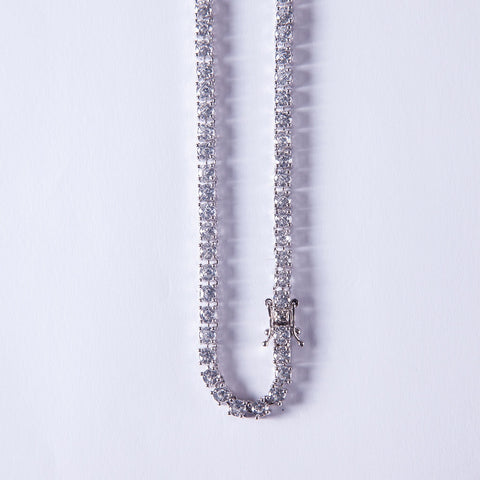 3mm Tennis Chain Lab Diamond - Gold plated uk