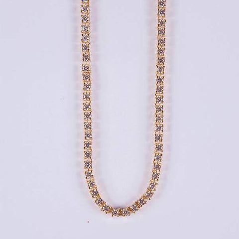3mm Gold Tennis Chain - Gold plated uk