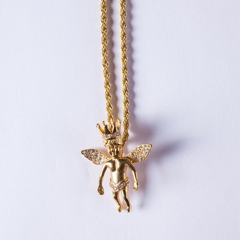 Gold Crown Angel - Gold plated uk
