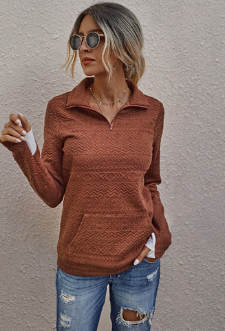 Embossed Pullover