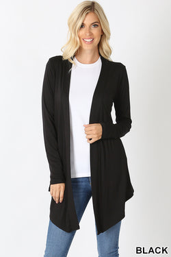 Drapey Open Cardigan - Black