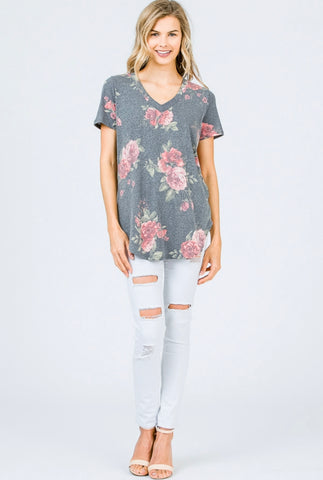 Floral Tunic Length Tre