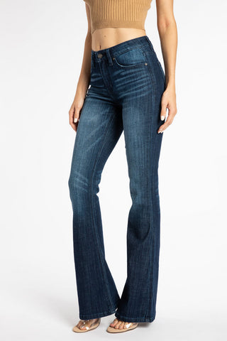 KanCan Mid Rise Flare Jeans Dark Wash
