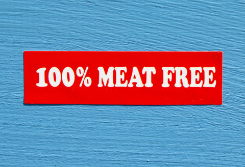 100% Meat Free Sticker