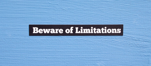 Beware of Limitations Sticker
