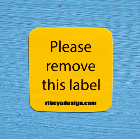 Please Remove This Label Sticker