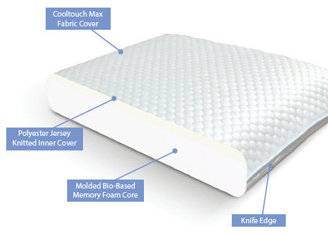 Molded Core Memory Foam Pillow