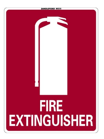 300 x 225mm Fire Extinguisher Plastic Sign