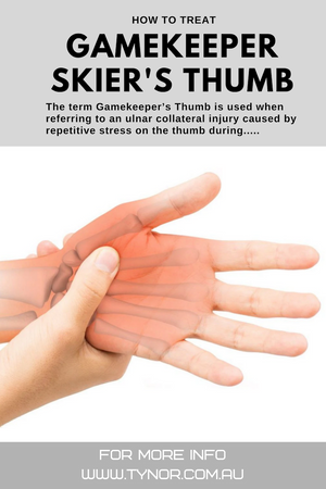 How to Treat Gamekeepers or Skier's Thumb