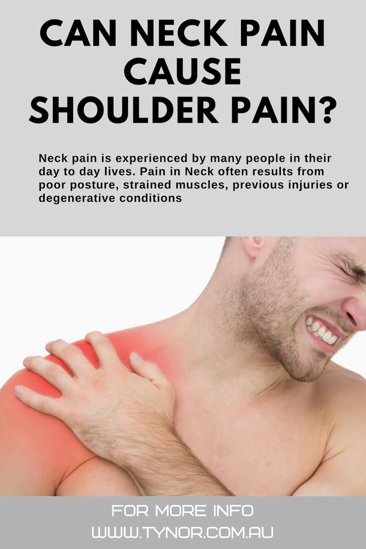 Can Neck Pain Cause Shoulder Pain?