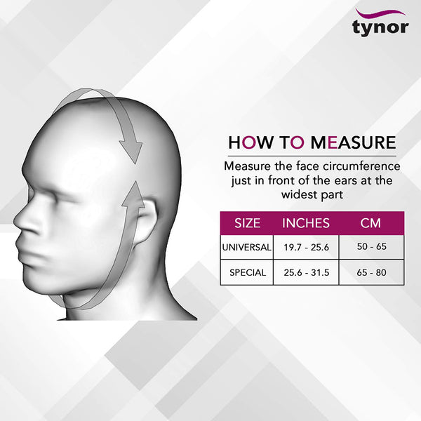 Compression Garment Face Open Hood Size Chart