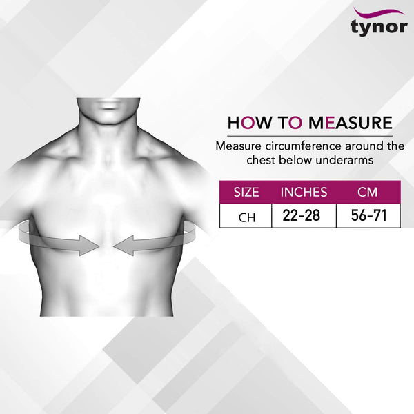 Clavicle Brace Size Chart