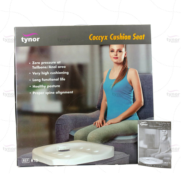 Tynor Australia Tynor™ Coccyx Cushion Seat For Sciatica Back Pain Tailbone Chair Pillow for Sciatica, Coccyx, Back & Tailbone Pain Relief - Orthopedic Chair Pad for Support in Office Desk Chair and Car Seat