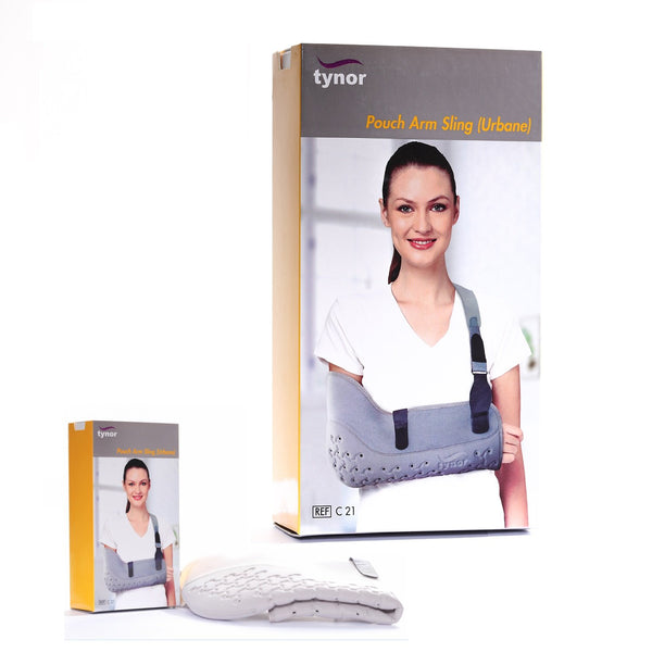 Tynor Australia Pouch Arm Sling (Urbane) for fractures of humerous, radius, ulna, clavicles, scapula Clavicle bone fracture Post-surgical or post cast care of the arm